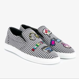 Mira Mikati embroidered houndstooth skate sneaker